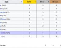 Украина вошла в топ-20 медального зачета Олимпиады-2018