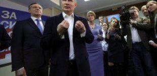 После обработки 90% протоколов Путин набирает 76,41% голосов, Собчак — 1,6%
