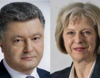 Порошенко и Мэй обсудили противостояние российской агрессии в контексте подготовки к саммиту G7