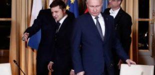 В Париже началась личная встреча Зеленского и Путина