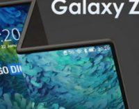 Смартфон-гармошка Samsung Galaxy Z красуется на рендерах