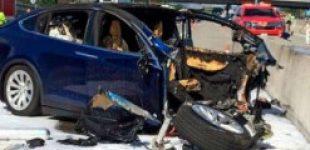 Водитель Тесла, погибший в автокатастрофе, играл на смартфоне во время аварии